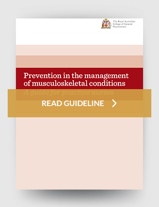 Prevention in the management of musculoskeletal conditions