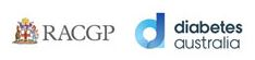 Diabetes Australian and RACGP logo's