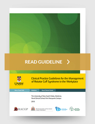 Clinical practice guidelines for the management of rotator cuff syndrome in the workplace