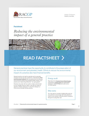 Reducing the environmental impact of a general practice