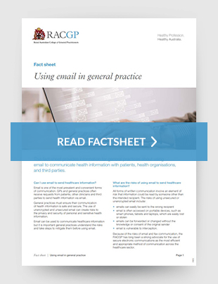 Using email in general practice