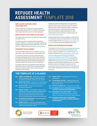 Racgp Refugee Health Assessment Template